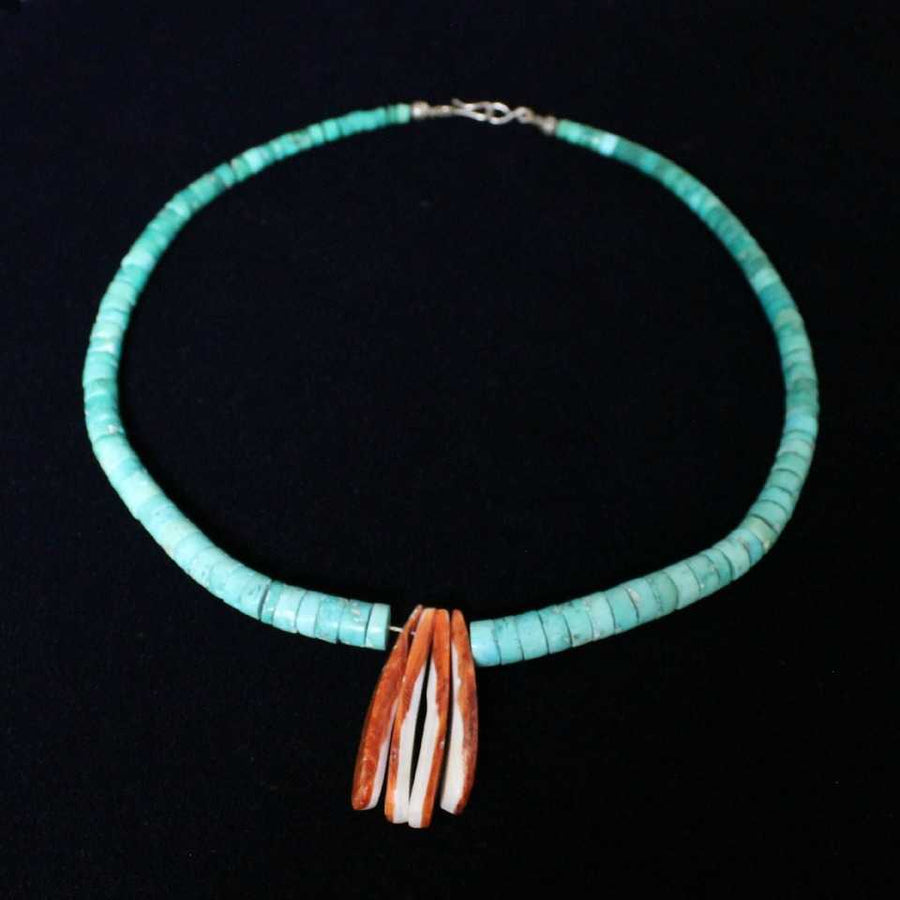 Vintage Turquoise Strand with Spiny Oyster