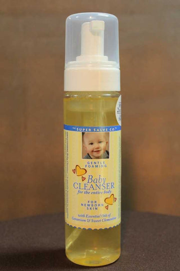 Gentle Foaming Baby Cleanser 5 oz Pump  - The Super Salve Co.