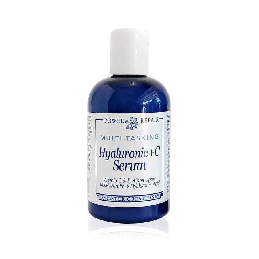 Power Repair Hyaluronic + C Serum 4 oz. squeeze bottle by Sister Creations