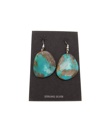 Turquoise Slab Earrings by Ray Lavato