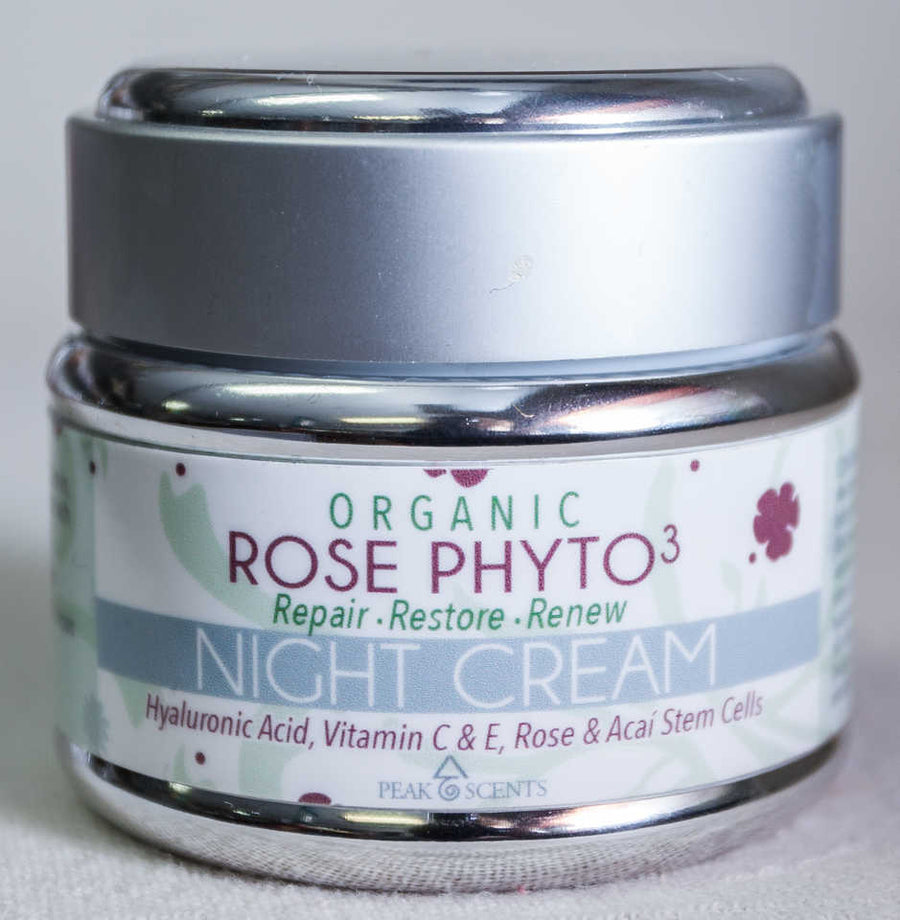 Organic Night Cream with Hyaluronic Acid -2oz  - Peak Scents