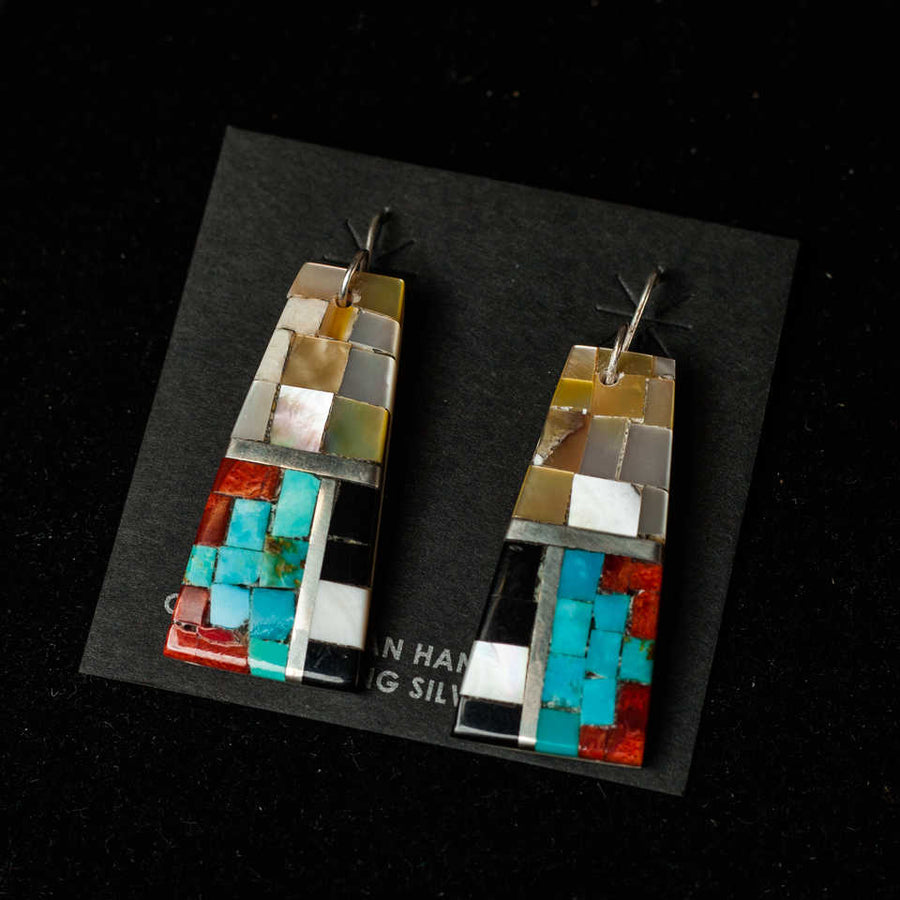Handcrafted Mosaic Earrings 1  - Mary Lovato