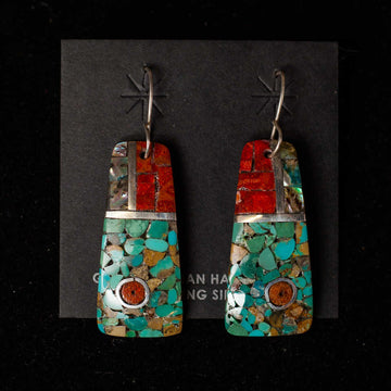 Handcrafted Mosaic Earrings 4  - Mary Lovato