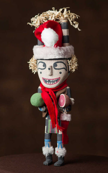 Christmas Clown Katsina by Larry Melendez