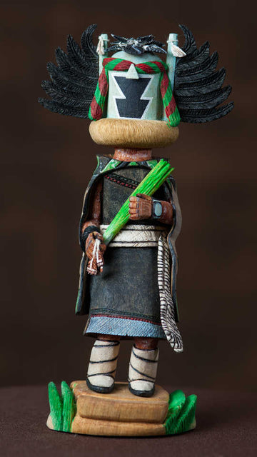 Angwusngsi, Crow Mother Kachina doll by Edward Masawytewa