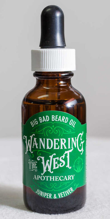 Juniper & Vetiver Big Bad Beard Oil - 1oz  - Wandering The West
