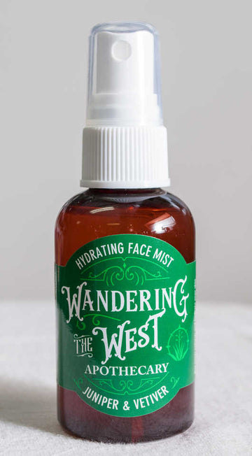 Juniper and Vetiver Hydrating Face Mist 2 oz. - Wandering The West