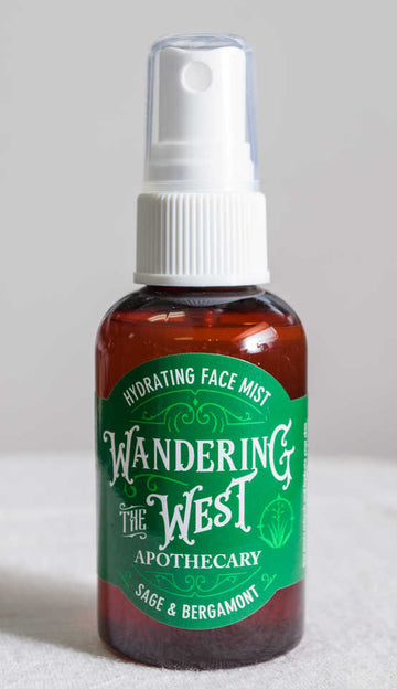 Sage & Bergamot Hydrating Face Mist 2 oz. - Wandering The West