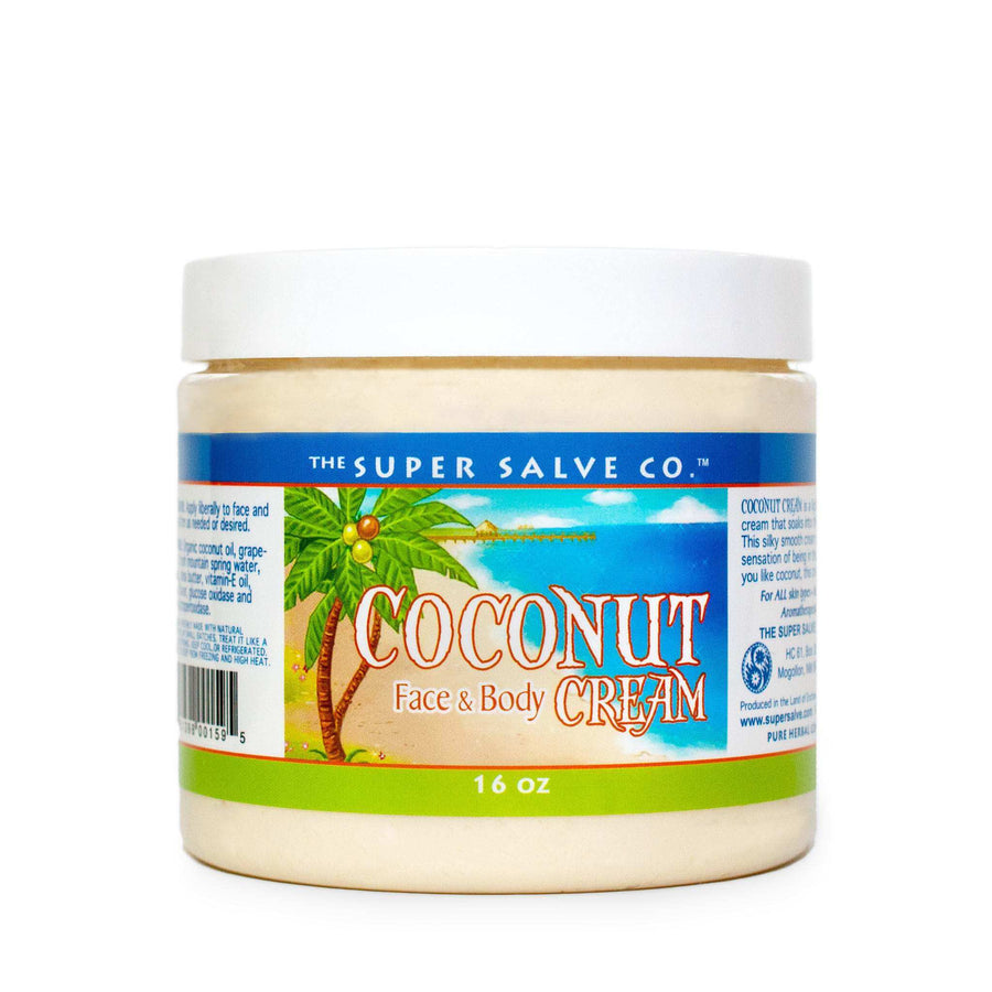 Coconut Cream for Face and Body by The Super Salve Co. 16 oz. plastic tub