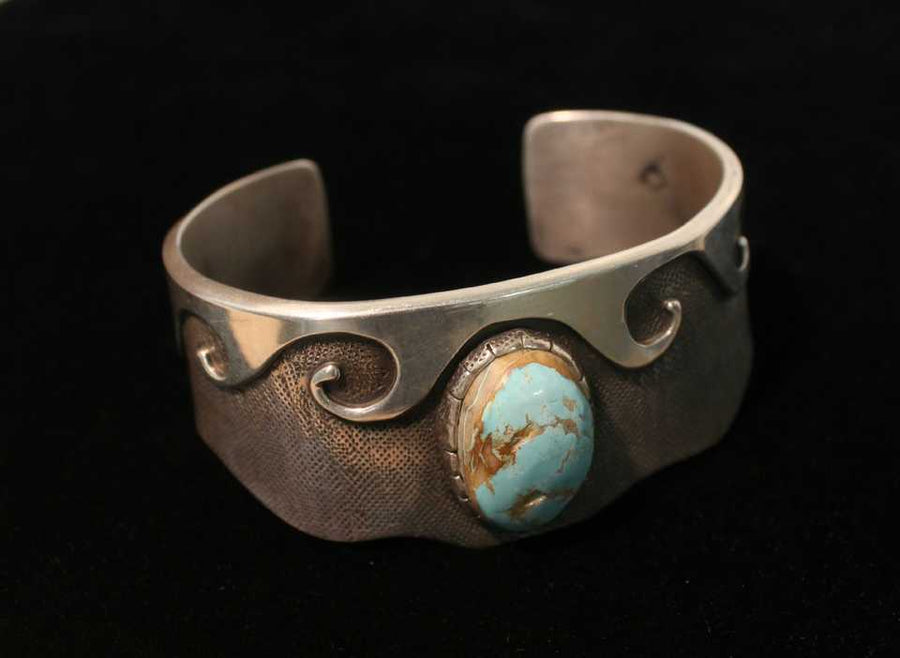 Sterling Silver and Natural Turquoise Stone Bracelet
