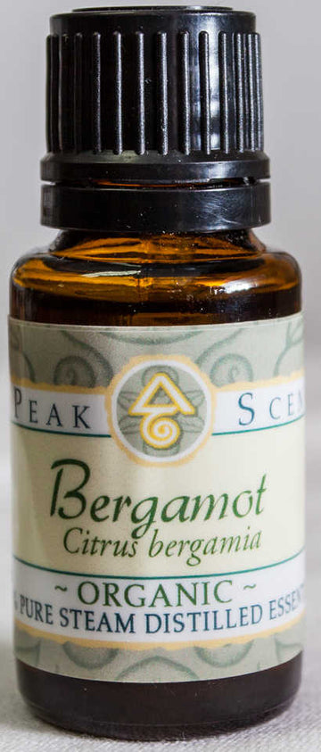 Organic Bergamot Essential Oil - 15 mL  - Peak Scents