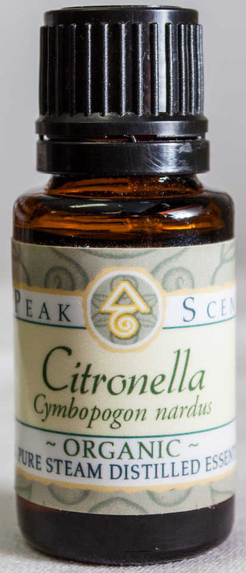 Organic Citronella Essential Oil -15 mL  - Peak Scents