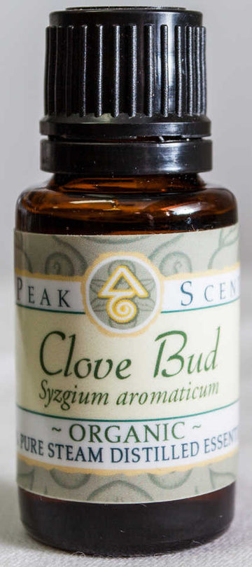Organic Clove Bud Essential Oil -15 mL  - Peak Scents