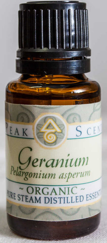 Organic Geranium Essential Oil - 15 mL  - Peak Scents