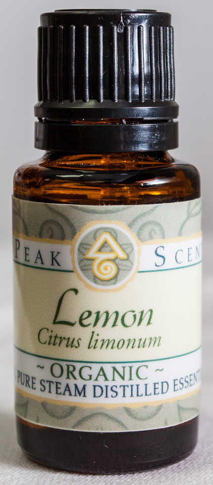 Organic Lemon Essential Oil - 15 mL  - Peak Scents