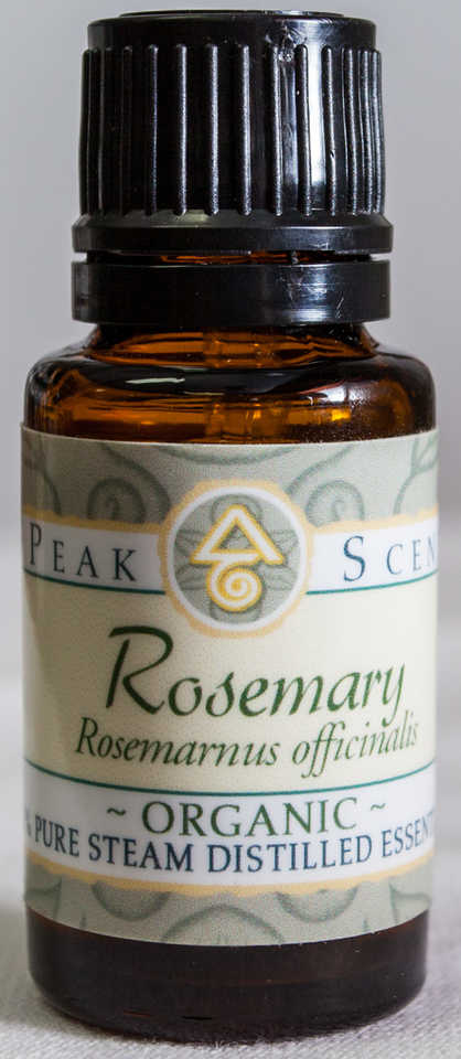 Organic Rosemary Essential Oil - 15 mL  - Peak Scents