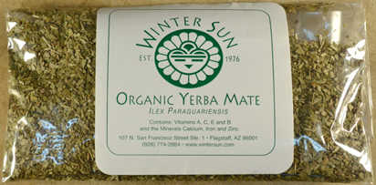 Organic Yerba Mate 1oz  - Winter Sun Trading Co.