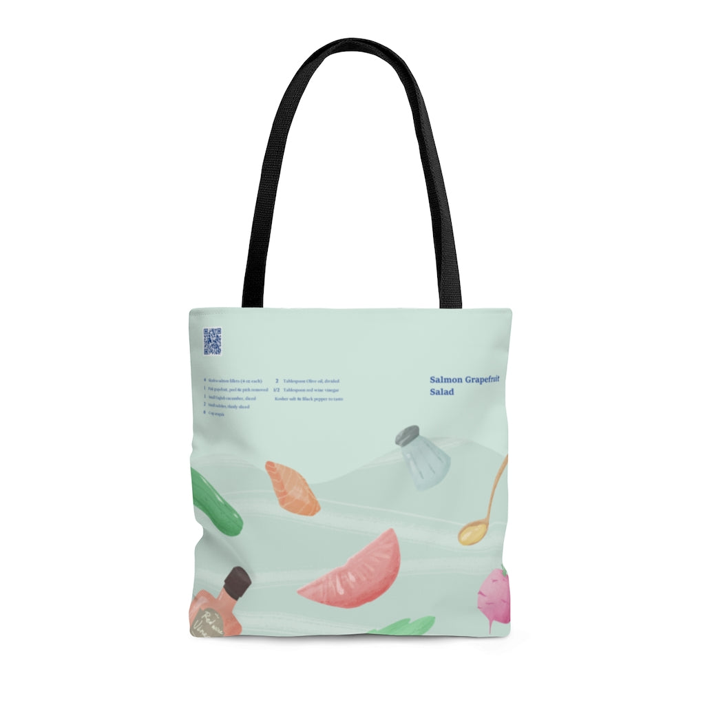 Salmon Grapefruit Salad - Tote Bag