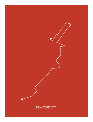 New York City Marathon Print