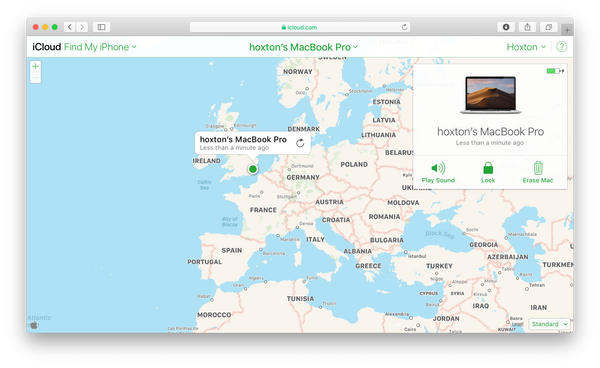 Find My Mac Map