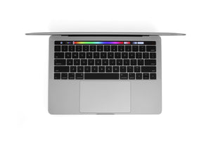 MacBook Pro 13-inch A1706 Silver Right Open