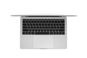 MacBook Pro 13-inch A1708 Silver Right Open