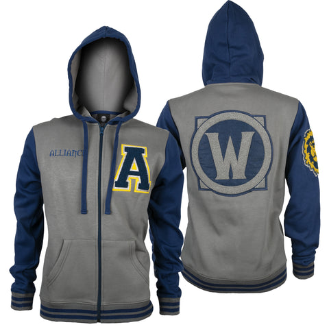View 1 of World of Warcraft Alliance Varsity Hoodie photo.
