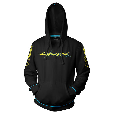 View 1 of Cyberpunk 2077 Laser Logo Pullover Hoodie photo.