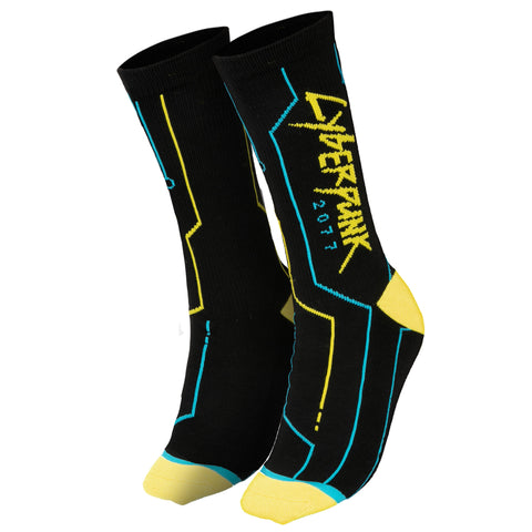 View 1 of Cyberpunk 2077 Cyber Tech Socks photo.