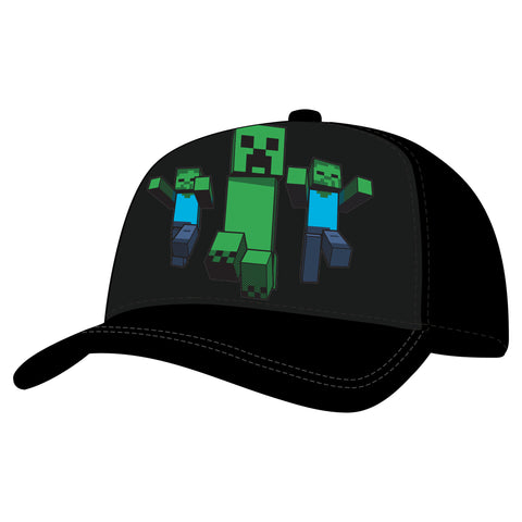 View 1 of Minecraft Creep on Truckin Youth Snap Back Hat photo.