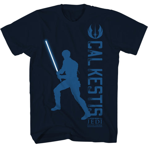 View 1 of Star Wars Jedi: Fallen Order Cal Silhouette Youth Tee photo.