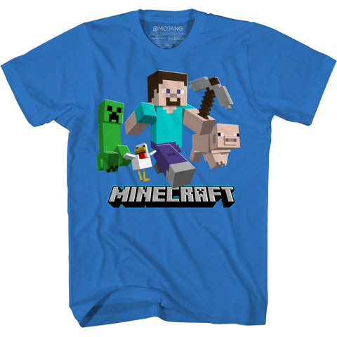 View 1 of Minecraft The Chase Continues Youth Tee photo.