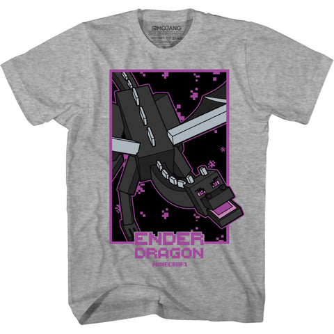 View 1 of Minecraft Boxed Ender Dragon Youth Tee photo.
