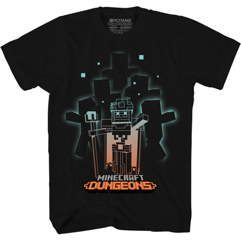 View 1 of Minecraft Dungeons Zombie Summon Youth Tee photo.