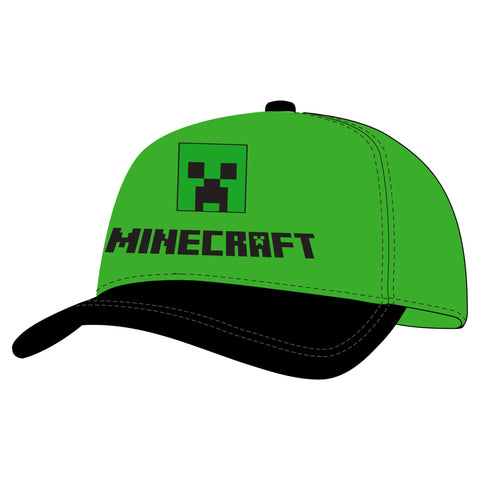 View 1 of Minecraft Trademark Creeper Youth Snap Back Hat photo.