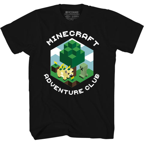 View 1 of Minecraft Earth Adventure Club Youth Tee photo.