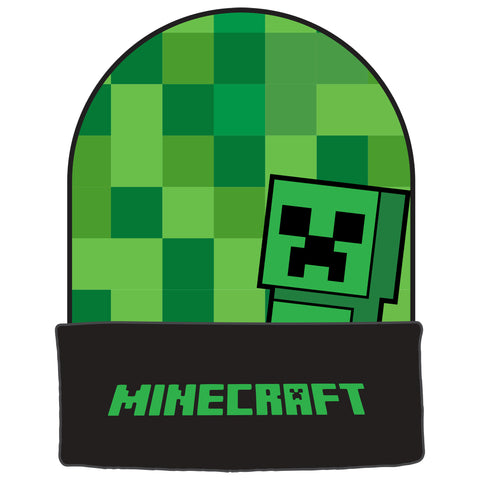 View 1 of Minecraft Creep-a-Boo Youth Beanie photo.