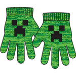 View 1 of Minecraft Creep-a-Boo Youth Gloves photo.