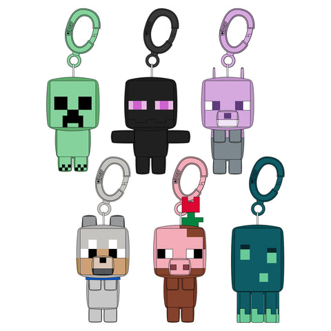 View 1 of Minecraft Earth Clipsters Blind Box Plush Hanger (Eaches) photo.