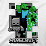 View 2 of Minecraft Hole In The Wall Youth Tee photo.