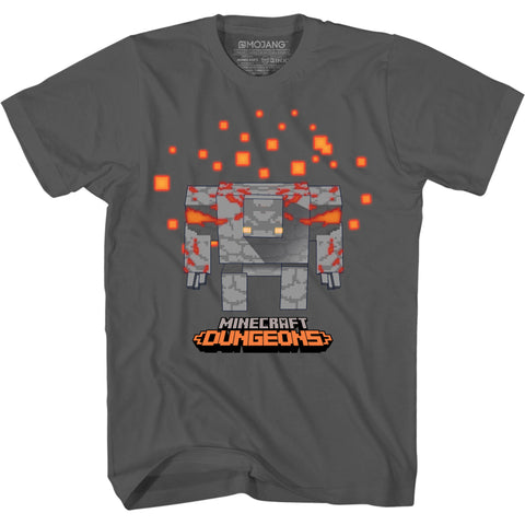 View 1 of Minecraft Dungeons Golem Walk Youth Tee photo.