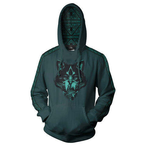 View 1 of Assassin's Creed Valhalla Wolf Spirit Pullover Hoodie photo.