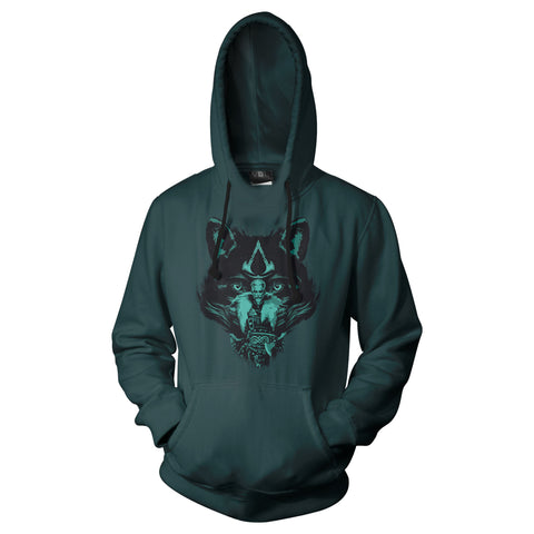 View 1 of Assassin's Creed Valhalla Mighty Eivor Pullover Hoodie photo.
