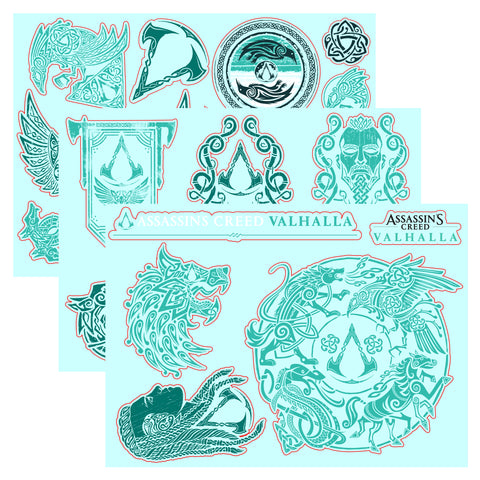 View 1 of Assassin's Creed Valhalla Gadget Sticker Sheet 3-Pack photo.
