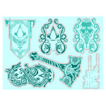 View 3 of Assassin's Creed Valhalla Gadget Sticker Sheet 3-Pack photo.