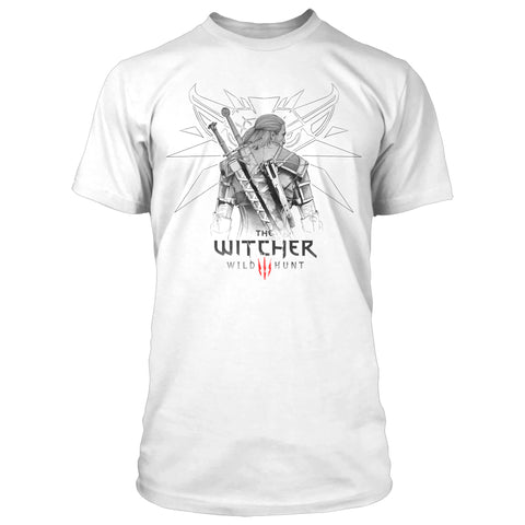 View 1 of The Witcher 3 Sketched Geralt Premium Tee photo.