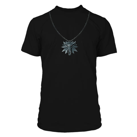 View 1 of The Witcher 3 Wolf School Medallion Premium Tee photo.