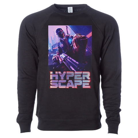 View 1 of Hyper Scape Key Crewneck Sweatshirt photo.