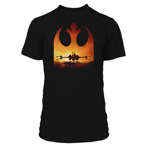 View 1 of Star Wars: Squadrons Vanguard Wanted Premium Tee photo.