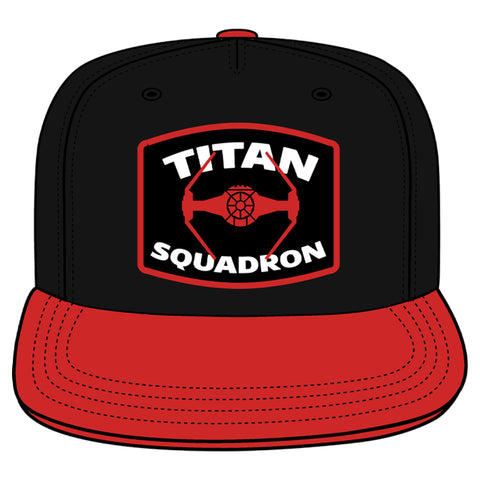 View 1 of Star Wars: Squadrons Titan Topper Snapback Hat photo.
